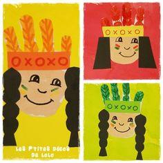 Une couverture de cahier sur le thème des indiens - Les p'tites décos de Lolo