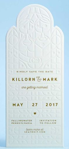 Mamas-Sauce - a Boutique Printing Company - does an amazing job with this save the date.