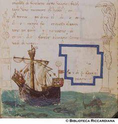 Ricc. 2669, FILIPPO CALANDRI, Trattato di aritmetica Sec. XV, fine; Firenze; bottega di Boccardino il vecchio.  Nave, c. 103r