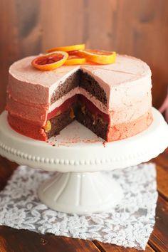 Blutorangen-Schoko Torte