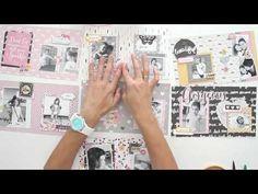 Cómo hacer el mini álbum Diamante - Estructura y decoración - TUTORIAL Scrapbook - YouTube