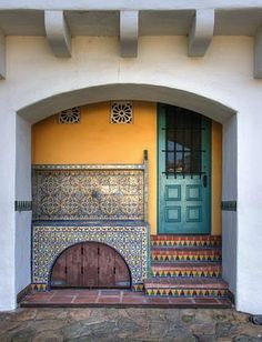 The tiles of Casa del Herrero - House of the Blacksmith - by architect George Washington Smith. Montecito, CA. 1925.