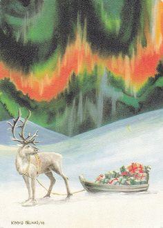 Nordic Thoughts: Vintage postcard by Kimmo Pälikkö