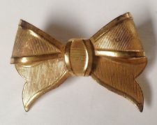 Vintage MIRIAM HASKELL Bow Brooch Pin - Signed