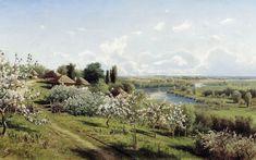 Микола Сергеєв (1855-1919) - Яблоні квітнуть