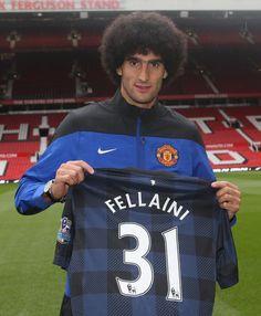 New Manchester United signing Marouane Fellaini.