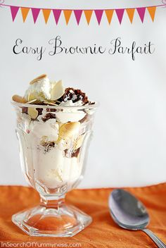 Brownie-Brown Sugar Parfait Recipe | Sweets | Pinterest | Parfait ...