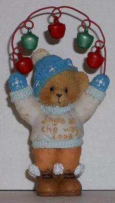 Cherished Teddies 2006 Bear Jingle Bells Ornament Dated NEW Item 4005475 Signed
