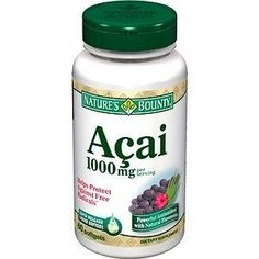 Nature's Bounty Acai 1000Mg Buy Online at Best Price in India: BigChemist.com