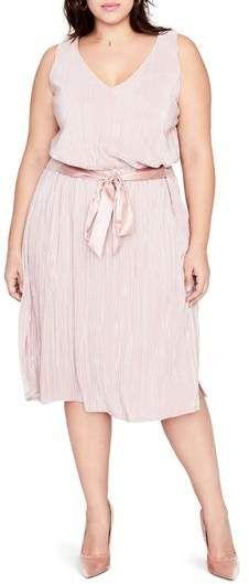 5abc695dc0645 Plus Size Metallic Pleated Blouson Dress - Plus Size Party Dress  plussize  Dresser