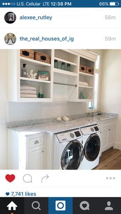 I love clean and organized far style laundry rooms