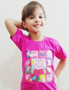 Camisetas Personalizadas da Peppa Pig, 100% algodão, vários tamanhos R$ 30,00