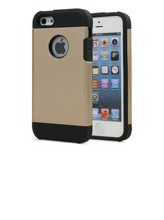 Iphone 5, 5s & Itouch 5g Tough Protective Case (Metallic Gold). iphone case fits 5, 5S - Compatible with iPhone 5S (2013) / iPhone 5 (2012). Tough carrying case - TPU. Tough protective case. 1.5mm lip to protect the screen. Slimmer but more protective than other protective cases on the market.