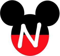 Mickey Heads with Alphabet. - Oh my Alfabetos! Mickey Mouse Kunst, Mickey Mouse Letters, Mickey Mouse Crafts, Theme Mickey, Mickey E Minie, Fiesta Mickey Mouse, Mickey Mouse Decorations, Mickey Mouse Head, Mickey Party