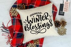 Winter Quotes SVG Winter Blessings#onsale #svgs #quotesandsayings