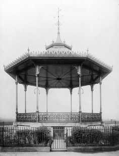 The bandstand in Wortley Recreation Ground, Leeds was a particularly intricate example of Britain's bandstands. Lost, date unknown Then And Now Pictures, Middlesbrough, My Town, Leeds, Britain, Gazebo, Restoration, Outdoor Structures, Tours