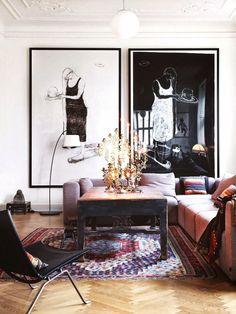 Living Room Black White Oversize Art