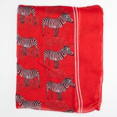 | Red Zebra Scarf