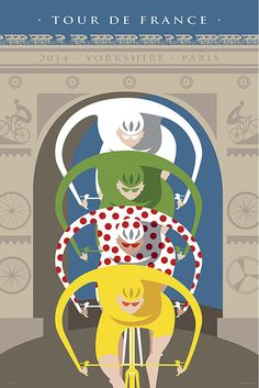 Tour de France Leaders Poster 3 sizes by BicyclePosters on Etsy, $34.00