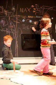MAGNETIC chalkboard wall!