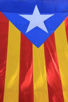 Flag from Tossa de Mar, Costa Brava, Catalonia, Spain