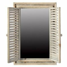 "Window Mirror w/ 2 Louvered Shutters 18""x25"" by FantasticDecor, http://www.amazon.com/dp/B0095B711G/ref=cm_sw_r_pi_dp_nltprb11X5BJC"