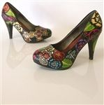Hand-painted custom designed shoes by Hourglass Footwear. The sky's the limit!