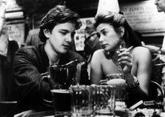 """Andrew McCarthy + Demi Moore in """"St. Elmo's Fire,"""" 1985."""