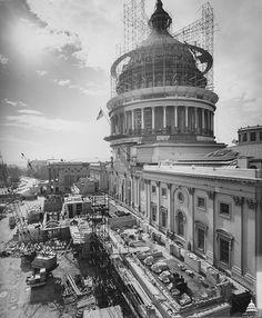 United States Capitol dome restoration work 1959-1960