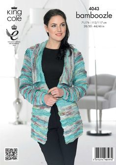 Jacket and Waistcoat Knitted with Bamboozle - King Cole