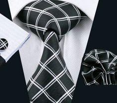 Elegantný kravatový set Bary - kravata + manžety + vreckovka, č.2
