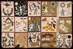 Quilt by former slave, Harriet Powers. One of our country's most famous examples of true folk art at its finest.