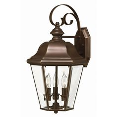 Hinkley Lighting 2424CB 3 Light Clifton Park Outdoor Sconce, Copper Bronze at ATG Stores