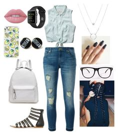 """""""Lesly Florentino Aguilar"""" by yasssssssssssssss on Polyvore featuring Abercrombie & Fitch, MICHAEL Michael Kors and Lime Crime"""