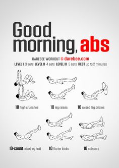Good Morning Abs Workout Abdominal exercises and workouts Ab Core Workout, Abs Workout Video, Abs Workout For Women, Ab Workout At Home, Workout For Beginners, Workout Challenge, At Home Workouts, Oblique Workout, Men Exercise