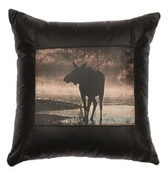 Decorative Leather Pillow - WD80203 by Wooded River