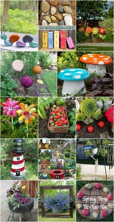 30 Adorable Garden Decorations To Add Whimsical Style To Your Lawn - Probably the cutest backyard and garden decorations. via @vanessacrafting