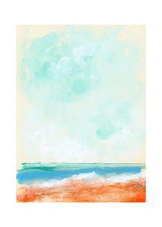 Beach Blaze Wall Art Prints by Lindsay Megahed   Minted