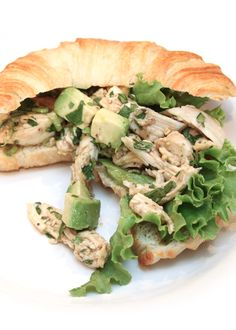 Asian Chicken Salad  Sometimes nothing tastes better than a tangy chicken salad.  Stuff it in a tomato, make it into a croissant or pita or wrap sandwich, or simply serve on a bed of shredded lettuce.