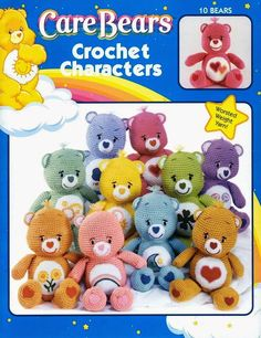 Free Japanese Craft Patterns: Care Bears Crochet Characters Free Amigurumi Craft Book Download