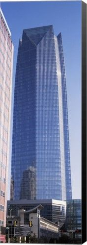 Great Art Now - Devon Tower, Oklahoma City, Oklahoma by Panoramic Images Canvas Wall Art, Black