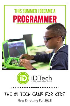 The #1 summer tech camp for ages 7-18 at Stanford, MIT, and 150 top campuses. Become a coder, game developer, engineer, or designer. Find a location near you!