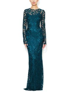 Long Sleeve Lace Gown by Dolce & Gabbana at Gilt