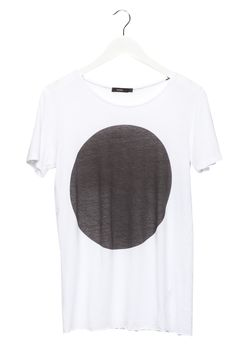 Women's dot t-shirt white w/ black dot | bassike.com