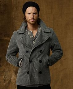 Denim & Supply Ralph Lauren Coat, North Sea Pea Coat - Mens Denim & Supply Outerwear - Macy's