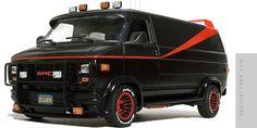 scale model of the A-Team GMC van Custom Truck Parts, Custom Trucks, A Team Van, Gmc Vans, Gtr R34, Old School Vans, Little Red Corvette, Nostalgia, Cool Vans