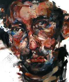 We are enjoying new oil paintings by Canadian-born, London-based painter Andrew Salgado this morning, a very classical artist who creates beautiful po. Nikos Gyftakis, Contemporary Portrait Artists, Abstract Portrait, Painting Portraits, High Art, Cool Art, Drawings, Artwork, Human Condition