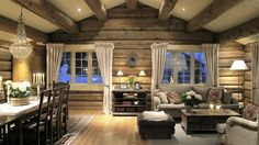 Log Cabin Living, Log Cabin Homes, Modern Log Cabins, House Plan With Loft, Cottage Renovation, Cabin Interiors, Tiny House Design, Cozy Cottage, Decoration