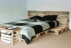 See an amazing idea to recycle wood pallets to decorate a lounge, you can see the whole area is adorned using the pallets and it is looking outstanding. The furniture as well as the walls is created with the wooden pallets.