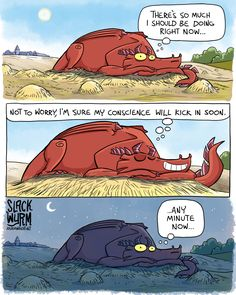 I like fart jokes. Dragon Comic, Funny Dragon, Slack Wyrm, Procrastination Humor, Calvin And Hobbes Comics, Cute Cartoon Drawings, Wtf Funny, Stupid Funny, Hilarious